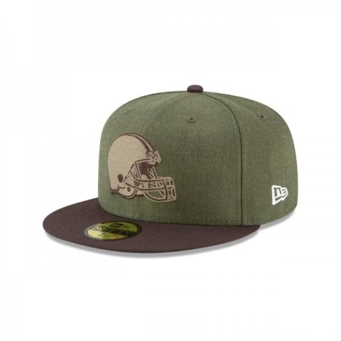 CLEVELAND BROWNS SALUTE TO SERVICE KIDS 59FIFTY FITTED - Sale