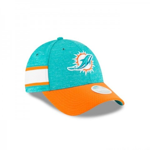 MIAMI DOLPHINS OFFICIAL WOMENS NFL SIDELINE HOME 9FORTY ADJUSTABLE - Sale