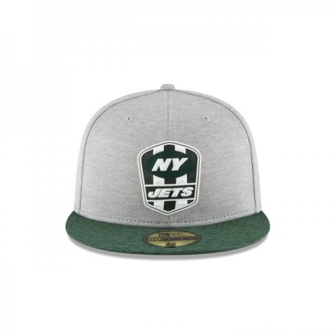 NEW YORK JETS OFFICIAL SIDELINE ROAD 59FIFTY FITTED