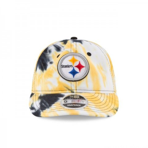 PITTSBURGH STEELERS MARBLED RETRO CROWN 9FIFTY SNAPBACK - Sale