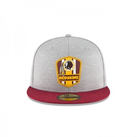 WASHINGTON REDSKINS OFFICIAL SIDELINE ROAD KIDS 59FIFTY FITTED