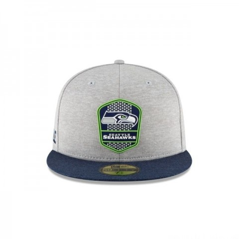 SEATTLE SEAHAWKS OFFICIAL SIDELINE ROAD KIDS 59FIFTY FITTED