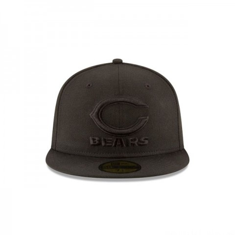 CHICAGO BEARS BLACK ON BLACK 59FIFTY FITTED