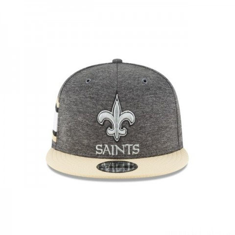 NEW ORLEANS SAINTS GRAPHITE SIDELINE HOME 9FIFTY SNAPBACK