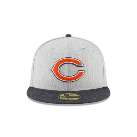 CHICAGO BEARS HEATHER CRISP 59FIFTY FITTED