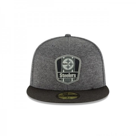 PITTSBURGH STEELERS NFL SIDELINE ROAD 59FIFTY FITTED - Sale
