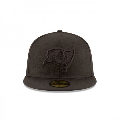 TAMPA BAY BUCCANEERS BLACK ON BLACK 59FIFTY FITTED - Sale