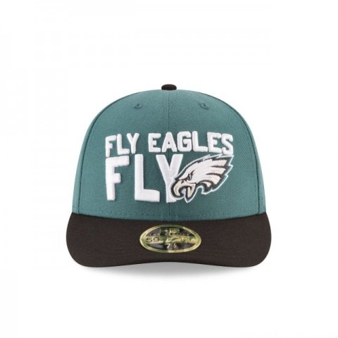 PHILADELPHIA EAGLES SPOTLIGHT LOW PROFILE 59FIFTY FITTED - Sale