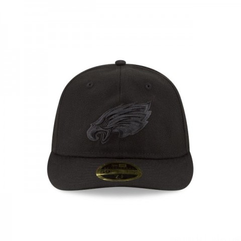 PHILADELPHIA EAGLES FAN FIT RETRO CROWN BLACK 59FIFTY FITTED - Sale