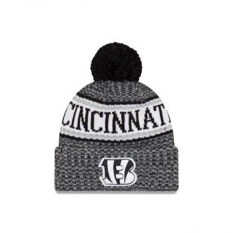 CINCINNATI BENGALS BLACK AND WHITE COLD WEATHER SPORT KNIT