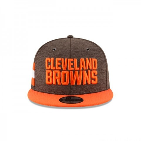CLEVELAND BROWNS OFFICIAL SIDELINE HOME KIDS 9FIFTY SNAPBACK - Sale