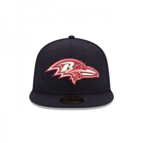 BALTIMORE RAVENS CRAFTED IN THE USA 59FIFTY FITTED - Sale