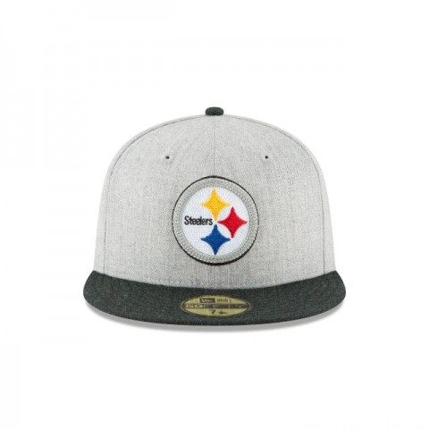 PITTSBURGH STEELERS HEATHER CRISP 59FIFTY FITTED - Sale