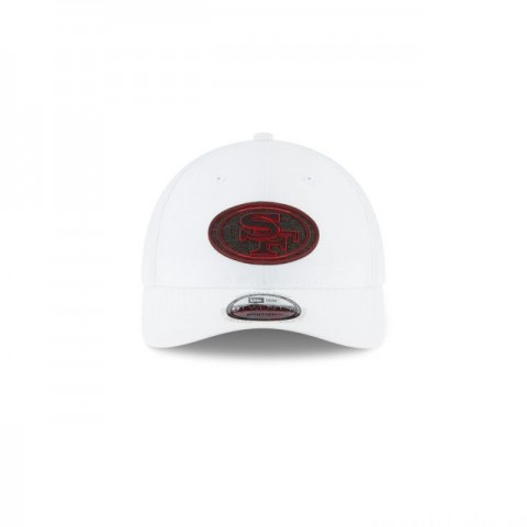 SAN FRANCISCO 49ERS NFL TRAINING WHITE 9TWENTY ADJUSTABLE
