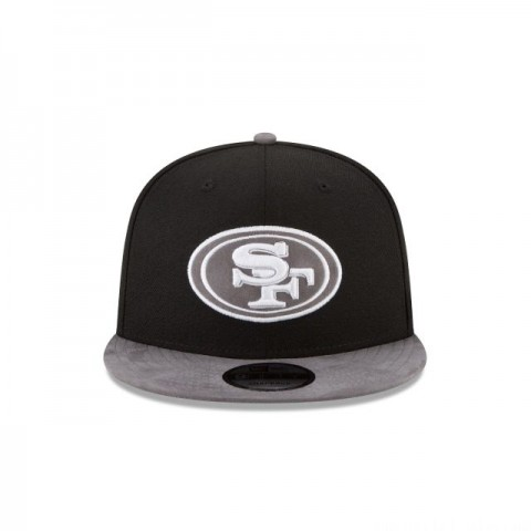 SAN FRANCISCO 49ERS TONAL CHOICE BLACK 9FIFTY SNAPBACK
