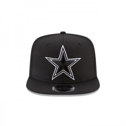 DALLAS COWBOYS BLACK AND WHITE HIGH CROWN 9FIFTY SNAPBACK - Sale