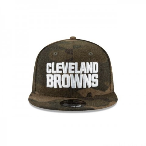 CLEVELAND BROWNS NFL CAMO MELTON 9FIFTY SNAPBACK - Sale
