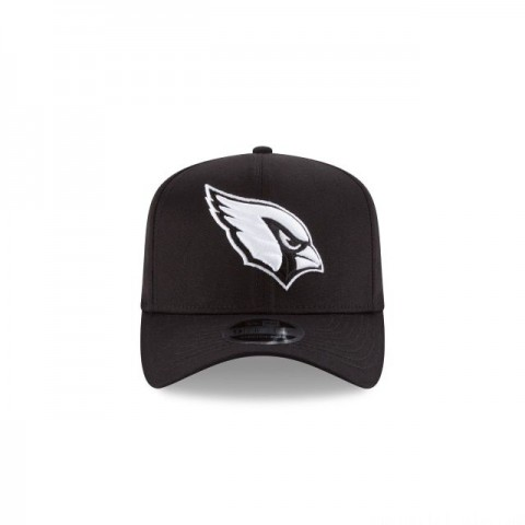 ARIZONA CARDINALS BLACK AND WHITE STRETCH SNAP 9FIFTY SNAPBACK