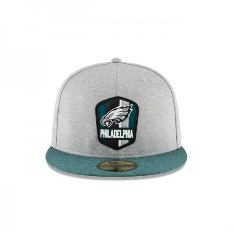 PHILADELPHIA EAGLES OFFICIAL SIDELINE ROAD KIDS 59FIFTY FITTED - Sale