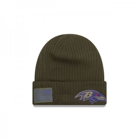 BALTIMORE RAVENS SALUTE TO SERVICE CUFF KNIT - Sale