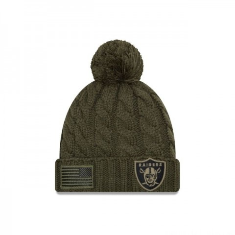 OAKLAND RAIDERS SALUTE TO SERVICE WOMENS POM KNIT - Sale