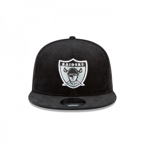 OAKLAND RAIDERS BLACK CORDUROY 9FIFTY SNAPBACK - Sale
