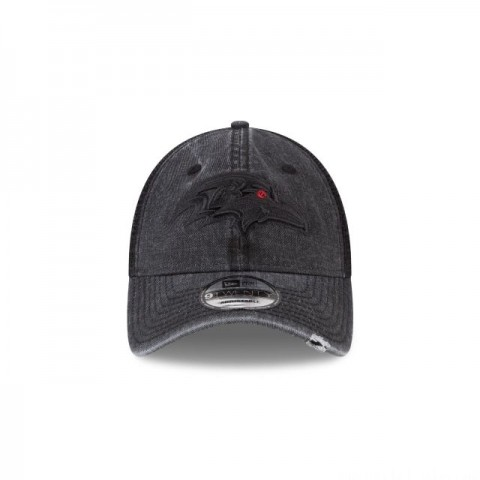 BALTIMORE RAVENS TONAL WASHED TRUCKER 9TWENTY ADJUSTABLE