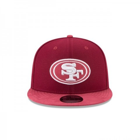 SAN FRANCISCO 49ERS TONAL CHOICE CARDINAL RED 9FIFTY SNAPBACK