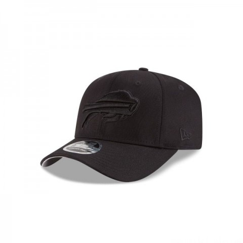BUFFALO BILLS BLACK ON BLACK STRETCH SNAP 9FIFTY SNAPBACK - Sale