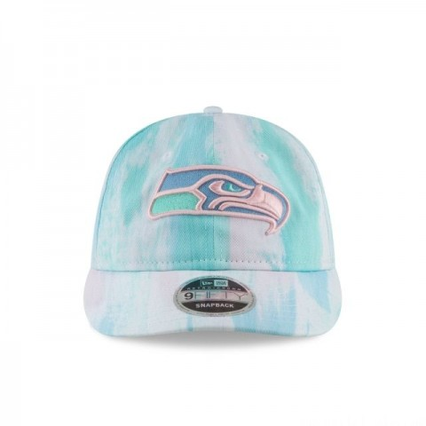 SEATTLE SEAHAWKS PAINTED RETRO CROWN 9FIFTY SNAPBACK