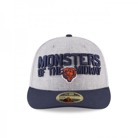 CHICAGO BEARS NFL DRAFT ON STAGE LOW PROFILE 59FIFTY FITTED