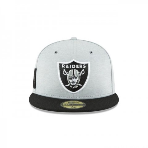OAKLAND RAIDERS OFFICIAL SIDELINE HOME KIDS 59FIFTY FITTED