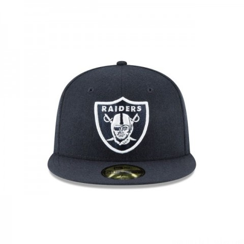 OAKLAND RAIDERS NAVY MELTON WOOL 59FIFTY FITTED