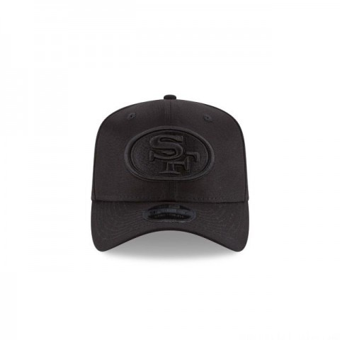 SAN FRANCISCO 49ERS BLACK ON BLACK STRETCH SNAP 9FIFTY SNAPBACK