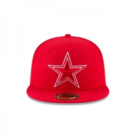 DALLAS COWBOYS SCARLET MELTON WOOL 59FIFTY FITTED - Sale