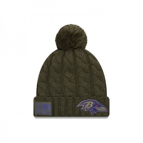 BALTIMORE RAVENS SALUTE TO SERVICE WOMENS POM KNIT