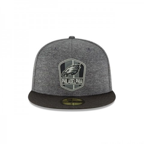PHILADELPHIA EAGLES NFL SIDELINE ROAD 59FIFTY FITTED - Sale