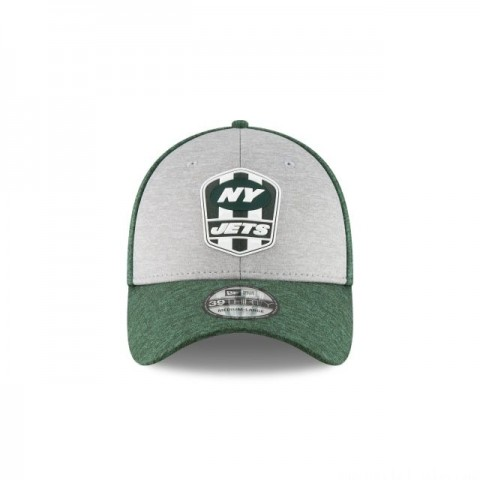 NEW YORK JETS OFFICIAL SIDELINE ROAD 39THIRTY STRETCH FIT