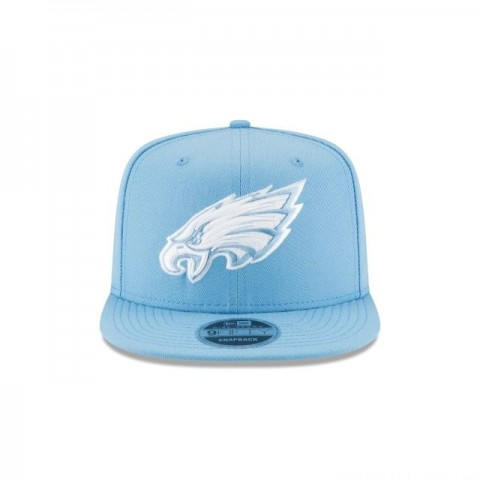 PHILADELPHIA EAGLES SKY BLUE HIGH CROWN 9FIFTY SNAPBACK - Sale