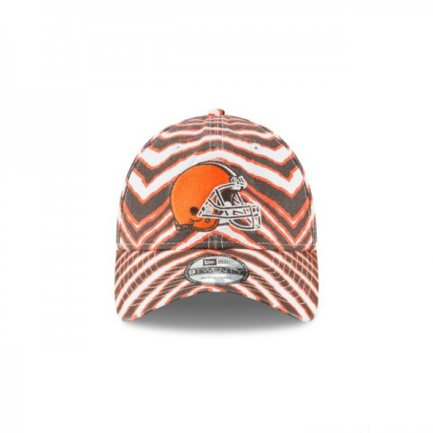 CLEVELAND BROWNS ZUBAZ ALLOVER 9TWENTY ADJUSTABLE - Sale
