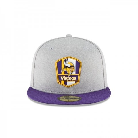 MINNESOTA VIKINGS OFFICIAL SIDELINE ROAD KIDS 59FIFTY FITTED - Sale