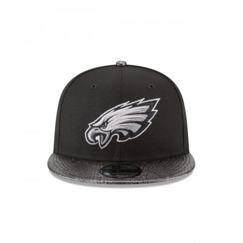 PHILADELPHIA EAGLES SNAKESKIN BLACK 9FIFTY SNAPBACK - Sale