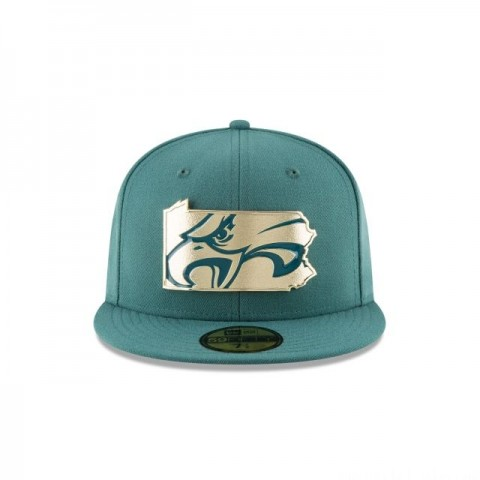 PHILADELPHIA EAGLES GOLD STATED 59FIFTY FITTED - Sale