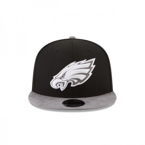 PHILADELPHIA EAGLES TONAL CHOICE BLACK 9FIFTY SNAPBACK - Sale