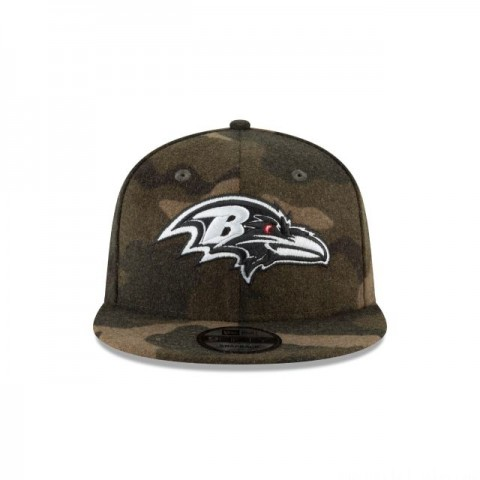 BALTIMORE RAVENS NFL CAMO MELTON 9FIFTY SNAPBACK - Sale