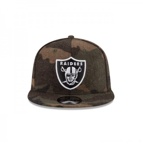 RAIDERS NFL CAMO MELTON 9FIFTY SNAPBACK - Sale