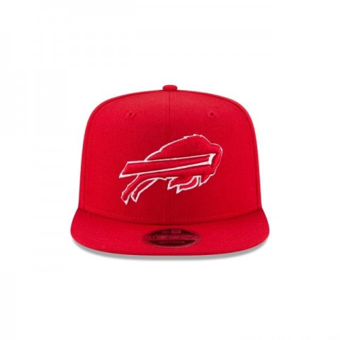 BUFFALO BILLS SCARLET HIGH CROWN 9FIFTY SNAPBACK - Sale
