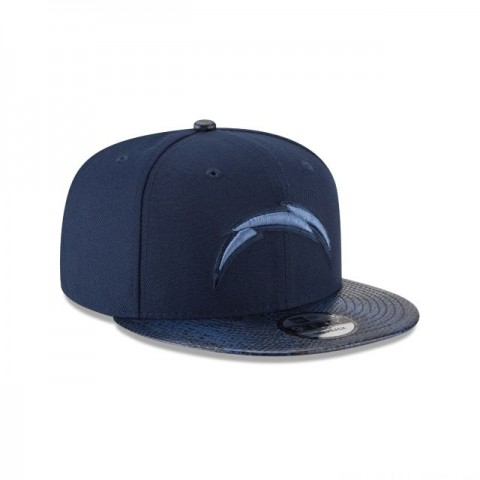 LOS ANGELES CHARGERS SNAKESKIN BLUE 9FIFTY SNAPBACK - Sale