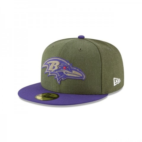 BALTIMORE RAVENS SALUTE TO SERVICE 59FIFTY FITTED - Sale