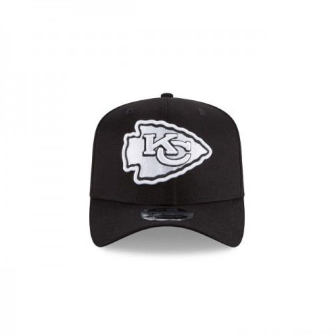 KANSAS CITY CHIEFS BLACK AND WHITE STRETCH SNAP 9FIFTY SNAPBACK